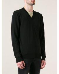 Dolce & Gabbana - Black Vneck Sweater for Men - Lyst