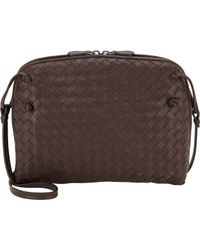 Bottega Veneta Brown Small Intrecciato Messenger