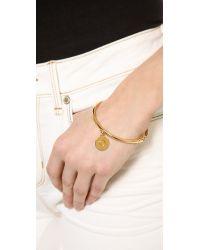 kate spade new york - Metallic Charm Letter Bangle Bracelet - Lyst