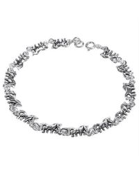 Aeravida - Gray Mythical Beauty Prancing Unicorn .925 Silver Bracelet - Lyst