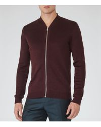 Reiss - Purple Charleston Zip Jumper for Men - Lyst