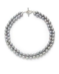 Slane | Metallic 7mm Grey Freshwater Pearl Double Strand Necklace16 | Lyst