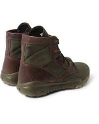 Nike Brown Special Field Leather and Canvas High-Top Sneakers for men