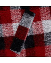 River Island Red Check Chelsea Girl Coat
