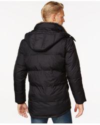 Calvin Klein | Black Packable Hooded Parka for Men | Lyst