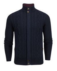 Ted Baker | Blue Hofman Cable Knit Funnel Neck Jumper for Men | Lyst