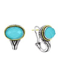 Lagos | Green Venus Crystal & Turquoise Doublet Earrings | Lyst