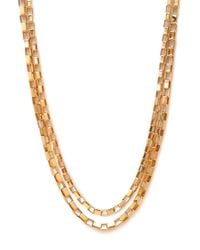Forever 21 - Metallic Box Link Chain Necklace - Lyst