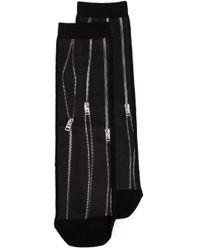 DIESEL - Black Zip Print Socks - Lyst
