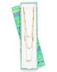 BaubleBar - Metallic 'reine' Layered Necklace - Lyst