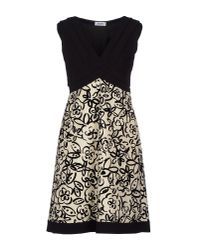 Moschino | Natural Crepe And Velvet-Flocked Twill Dress | Lyst