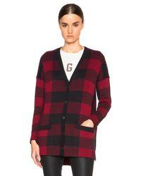 Current/Elliott - Red Cardigan Sweater - Lyst