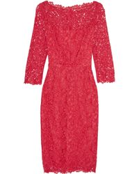 Goat Red Venus Guipure Lace Dress
