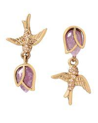 Betsey Johnson   Pink Spring Critters Cubic Zirconia Bird Drop Earrings   Lyst