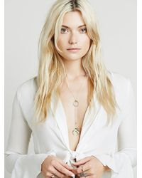 Free People | Metallic Womens Every Day Lari | Lyst