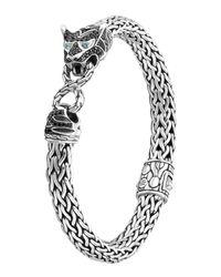 John Hardy | Metallic Classic Chain Medium Macan Lava Bracelet | Lyst