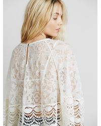 Free People - White Womens Secret Heart Embroidered Top - Lyst