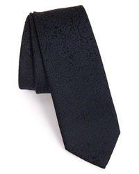 Z Zegna | Blue Paisley Woven Tie for Men | Lyst