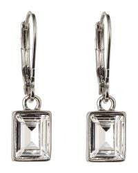 Givenchy | Metallic Silver-Tone Rectangular Drop Earrings | Lyst