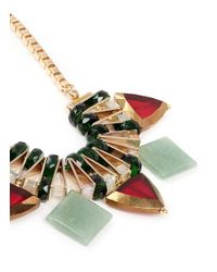 Scho | Metallic Jade Plate Glass Bead Necklace | Lyst