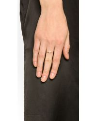 Aurelie Bidermann | Metallic Thin Gold Star Ring | Lyst