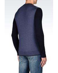 Armani Jeans - Blue Jumper In Cotton Blend for Men - Lyst