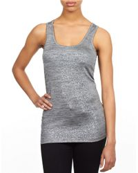William Rast - Gray Foil Tank Top - Lyst