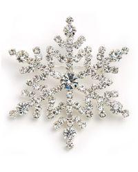 R.j. Graziano | Gray Snowflake Pin | Lyst