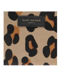 Kurt Geiger Brown Saffiano Mini Purse