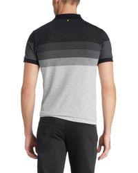 BOSS Green Black Slim-fit Golf Polo Shirt 'paule 3' In Cotton Blend for men