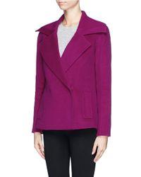 St. John - Purple Wide Notched Lapel Blazer - Lyst