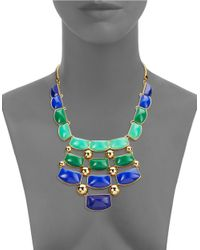 Trina Turk | Goldtone Blue And Green Statement Necklace for Men | Lyst