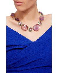 Bounkit   Purple Blue Quartz And Amethyst Necklace   Lyst