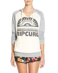 Rip Curl | Gray 'sunray' Pullover Hoodie | Lyst
