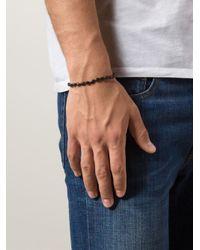 Joseph Brooks   Black Beaded Bracelet for Men   Lyst