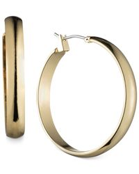 Jones New York | Metallic Gold-tone Wide Hoop Earrings | Lyst