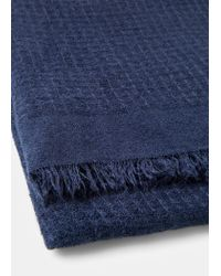 Violeta by Mango - Blue Textured Scarf - Lyst