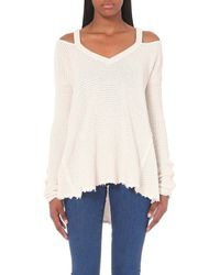 Free People | Natural Moonshine Knitted Jumper - For Women | Lyst