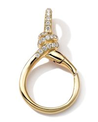 Ippolita | Metallic 18k Gold Pave Diamond Twisted Wire Charm Holder | Lyst