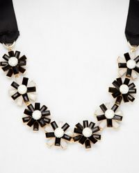 Weekend by Maxmara | Black Dindy Daisies Tie Necklace | Lyst