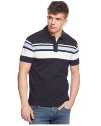 Armani Jeans | Blue Striped Polo for Men | Lyst