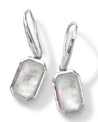 Ippolita White Rectangle Clear Quartz & Mother-Of-Pearl Earrings