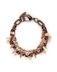 Joomi Lim | Metallic Skull Crystal Spike Bracelet | Lyst