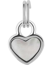 Links of London | Metallic Mini Heart Sterling Silver And Mother-of-pearl Charm | Lyst