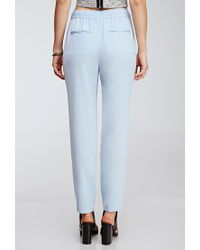 Forever 21 | Blue Zippered Drawstring Pants | Lyst
