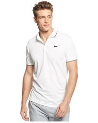 Nike | White Court Tipped Dri-fit Polo for Men | Lyst