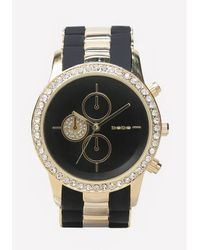 Bebe | Metallic Rubber Link Sports Watch | Lyst