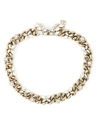 Ermanno Scervino | Metallic Crystal Chain Necklace | Lyst