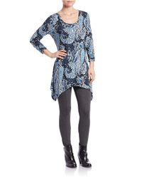 Lord & Taylor Blue Fitted Knit Leggings