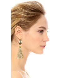 Vanessa Mooney | The Novarro Tassel Earrings - White | Lyst